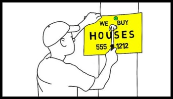 we buy houses for cash sign